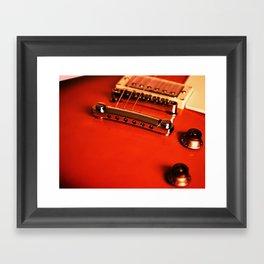 Six Strings On Red Framed Art Print