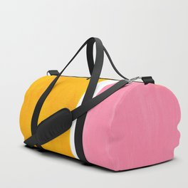 Pastel Yellow Pink Rothko Minimalist Mid Century Abstract Color Field Squares Duffle Bag
