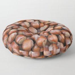 Hazelnuts Illustration Floor Pillow