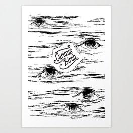 Curious Birch Art Print
