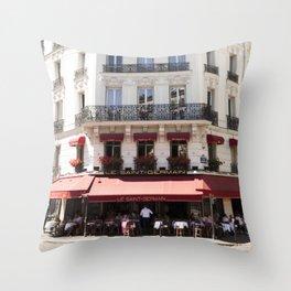Lunch at Le Saint-Germain Throw Pillow