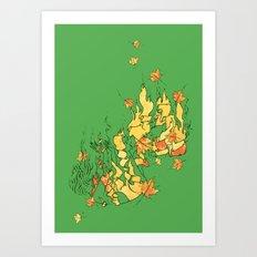 Fall of Life Art Print