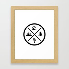 Coast to Coast Framed Art Print
