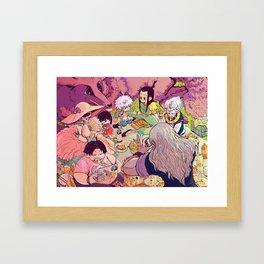 A happy family circle Framed Art Print