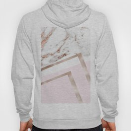 Geometric marble - luxe rose gold edition I Hoody