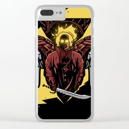 Apocaliptic Angel Clear iPhone Case