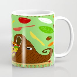 Creepy Cornucopia for Thanksgiving Coffee Mug