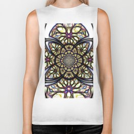 The Art Of Stain Glass Biker Tank