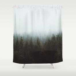 Fog in a Forest Shower Curtain