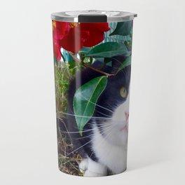 Orazio, the cat of camellias Travel Mug