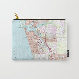 Venice Florida Map (1973) Carry-All Pouch