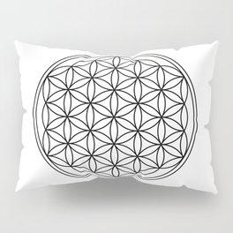 Flower of life in black, sacred geometry Pillow Sham