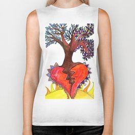 Out of a broken heart comes new life Biker Tank