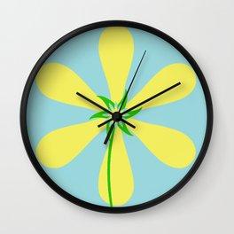 Flower Power - Blue Wall Clock