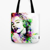 marylin monroe Tote Bags featuring Monroe. by David