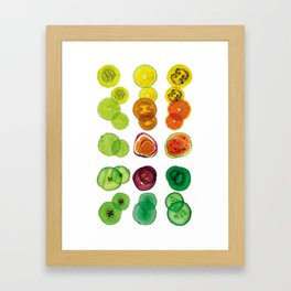 Salade de fruit YELLOWS Framed Art Print