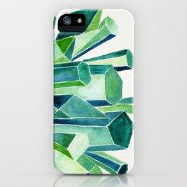 Emerald Watercolor iPhone Case