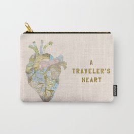 A Traveler's Heart Carry-All Pouch