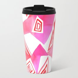 Geo Triangle Pink Travel Mug