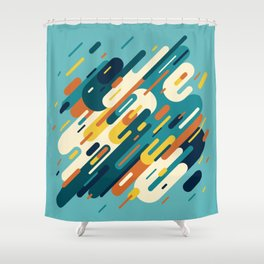 Retro Lines Shower Curtain