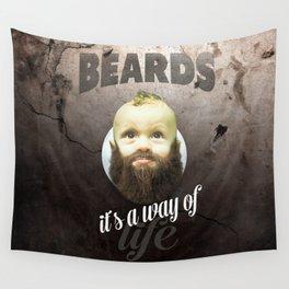Beard boy Wall Tapestry