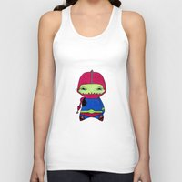 conan Tank Tops featuring A Boy - Trap-Jaw by Christophe Chiozzi