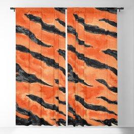 Tiger Stripes (Orange/Black) Blackout Curtain