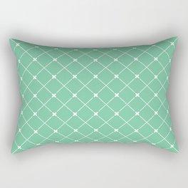 Geometrical abstract modern white green pattern Rectangular Pillow