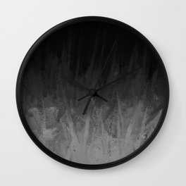 Everything Fades to Black Wall Clock