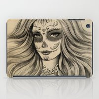 sugar skull iPad Cases featuring Sugar Skull by Vivian Lau