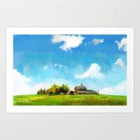 farm Art Prints featuring Farm by Wenlolz.