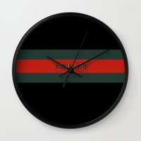 gucci Wall Clocks featuring Gucci 3 by Beauti Asylum