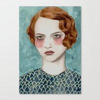 woman Canvas Prints featuring Sasha by Sofia Bonati