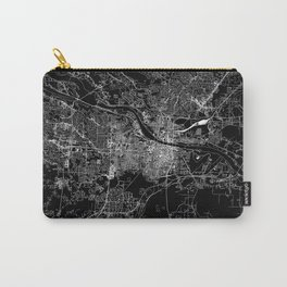 Little Rock Black Map Carry-All Pouch