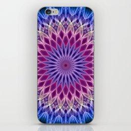 Mandala in pastel blue and pink tones iPhone Skin