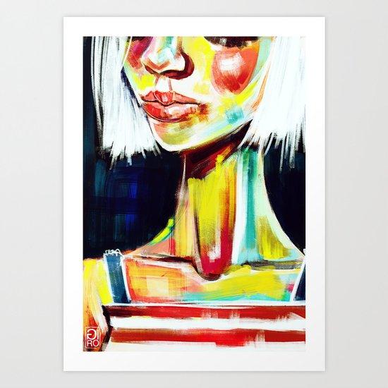 """Glowing 7"" Art Print"