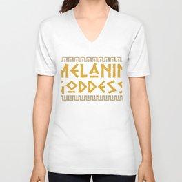 Melanin Goddess print| Black Pride product| Black Girl Power Unisex V-Neck