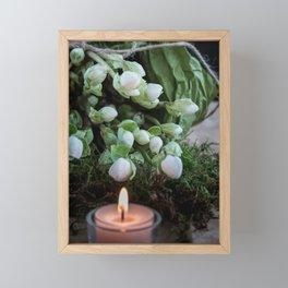 Flowers of Christmas - Christmas Rosebuds Framed Mini Art Print