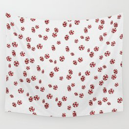 Peppermint Candy in White Wall Tapestry