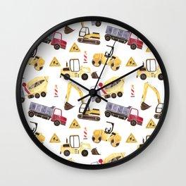 Construction Machines Wall Clock