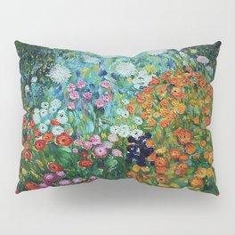 Flower Garden Riot of Colors by Gustav Klimt Pillow Sham