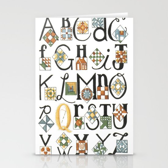The ABC's of Quilting Stationery Cards