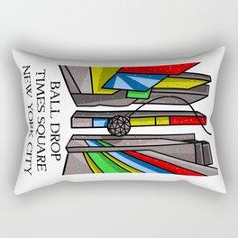 Ball Drop Times Square Rectangular Pillow
