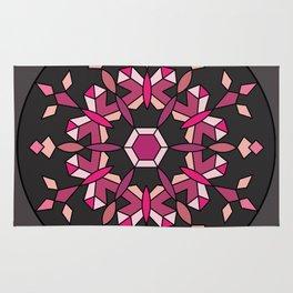 Moth's Crystal Snowflake - Red Version Rug