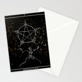 A Tarot of Ink 05 of Pentacles Stationery Cards