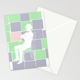 Think there and be square Stationery Cards