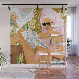 Vacay News #illustration #painting Wall Mural