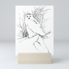 Snow Owl - M Mini Art Print