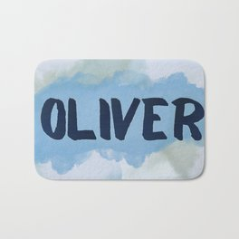 Oliver Blue and Green Bath Mat