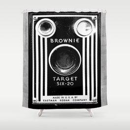 Ben-Day Kodak Brownie Camera  Shower Curtain